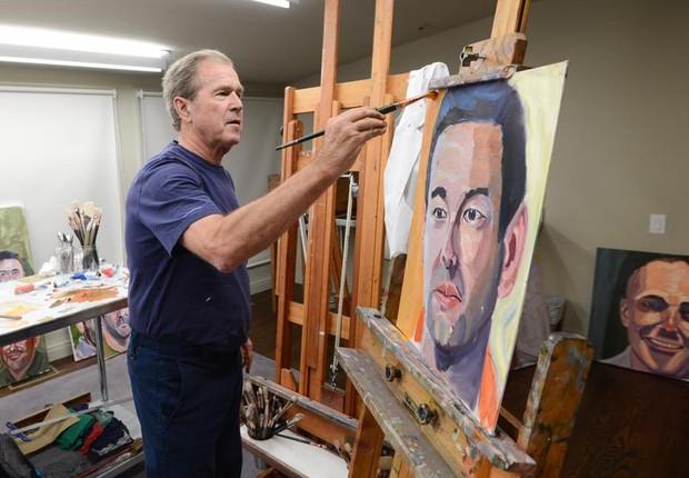 Bush passou a se dedicar à pintura depois de deixar a presidência dos EUA (Foto: Divulgação)