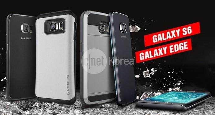 Possíveis imagens do Galaxy S6 e Galaxy S6 Edge aparecem na Internet (Foto: Reprodução/ Cnet Korea)