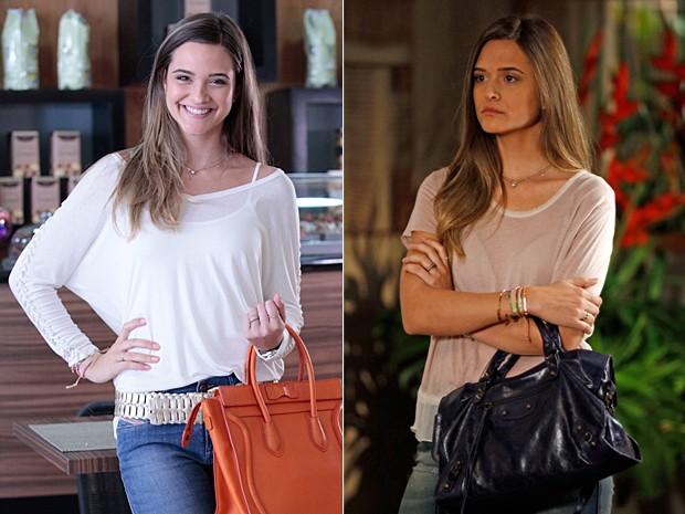 As bolsas de Lili se destacavam na produção da loirinha (Foto: Além do Horizonte/TV Globo)