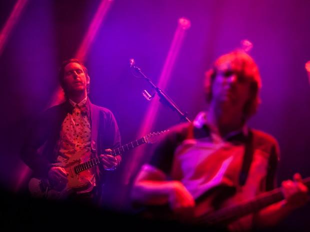 Jesse Carmichael, guitarrista do Maroon 5, durante show da banda no Allianz Parque, em São Paulo (Foto: Fábio Tito/G1)