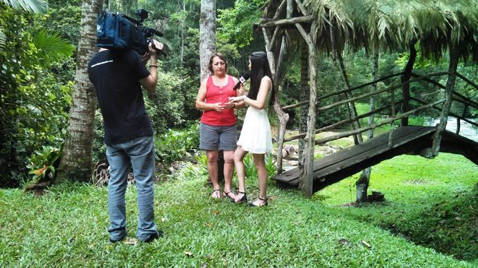 Pomerode também conta com local para relaxar  (Foto: RBS TV/Divulgação)