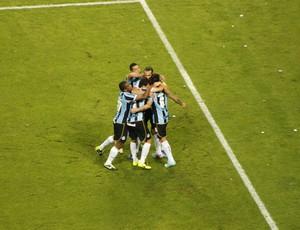 grêmio santa fé arena libertadores gol vargas (Foto: Diego Guichard/Globoesporte.com)