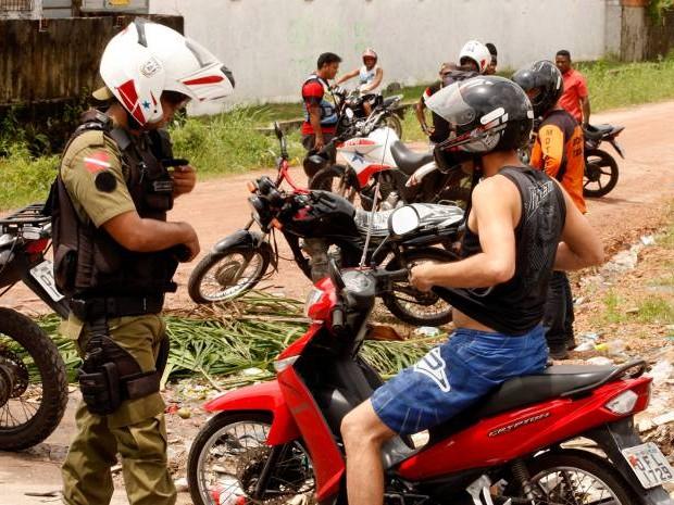 Operação combate a criminalidade em Belém. (Foto: Thiago Araújo/Ag. Pará )