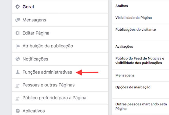 Link para a página de gerenciamento de pessoas que trabalham em uma página do Facebook (Foto: Reprodução/Marvin Costa)