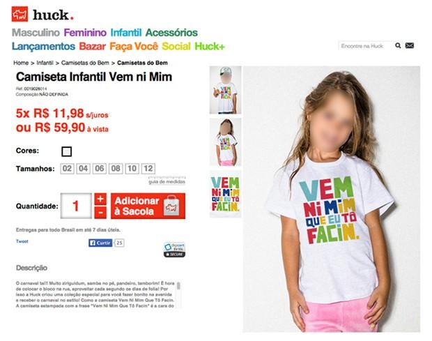 Camiseta causa polêmica na internet (Foto: Reprodução/Facebook)