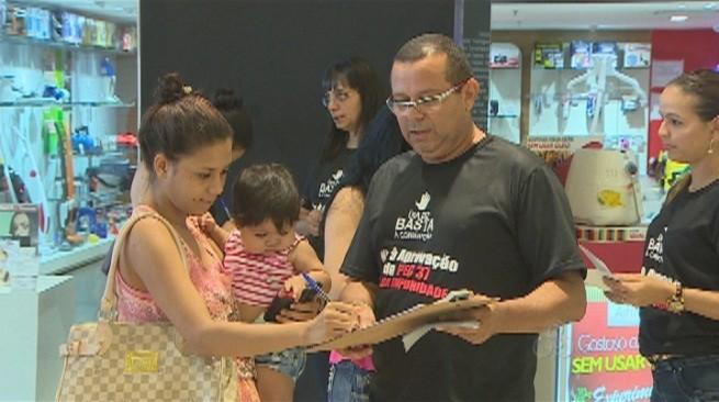 Assinaturas foram colhidas no fim de semana em Porto Velho (Foto: Bom dia Amazônia)