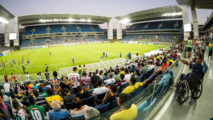 Cuiabá e Fortaleza pela Série C do Brasileiro na Arena Pantanal (Foto: Chico Valdiner/Secom/MT)