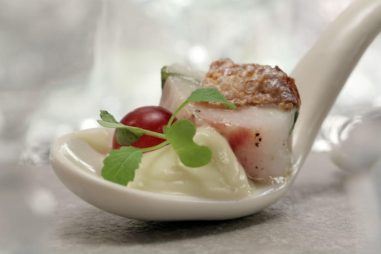 Peixe branco com pur de couve-flor (Foto: GNT)