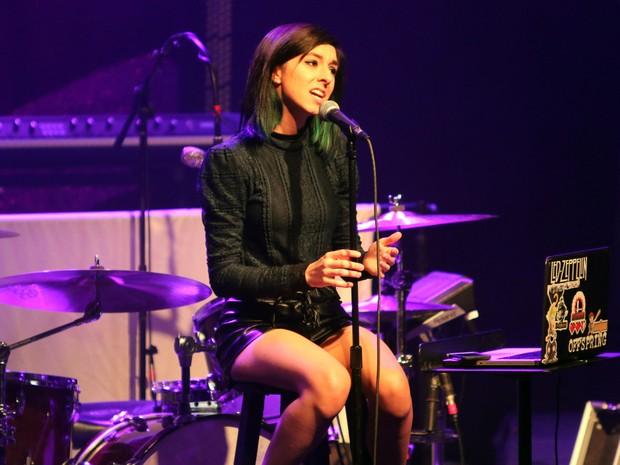 Christina Grimmie durante show em 2 de março deste ano (Foto: Katie Darby/AP Photo)