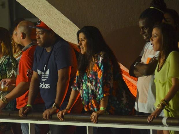 Regina Casé em show no Rio (Foto: Leo Marinho/ Ag. News)