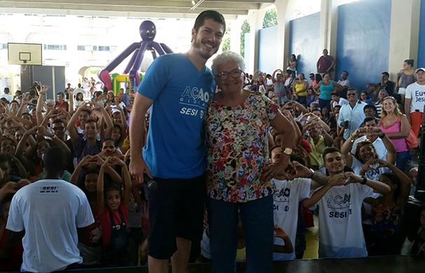 O ator Caio Paduan esteve presente no evento (Foto: Divulgação)