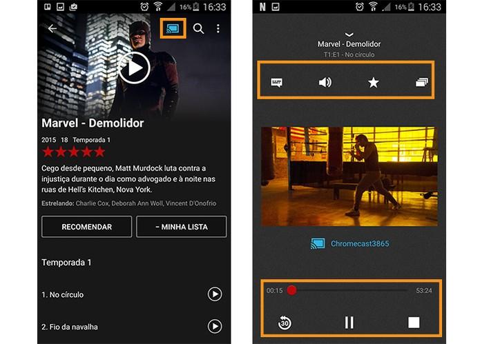 Assista o Netflix na TV pelo Chromecast com o celular (Foto: Reprodução/Barbara Mannara)