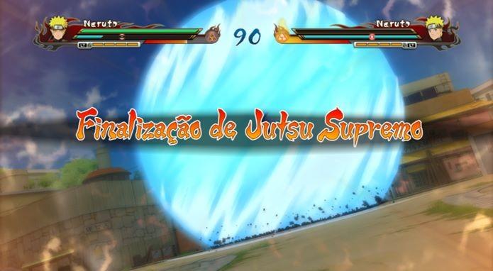 Com ninguém controlado o segundo personagem, finalize as lutas rapidamente com o Jutsu Supremo (Foto: Reprodução / Dario Coutinho)
