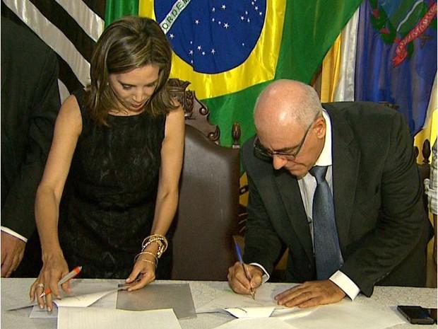 Prefeitura assina termo para instalação de Instituto Federal de Educação em Ribeirão Preto (Foto: Valdinei Malaguti/EPTV)