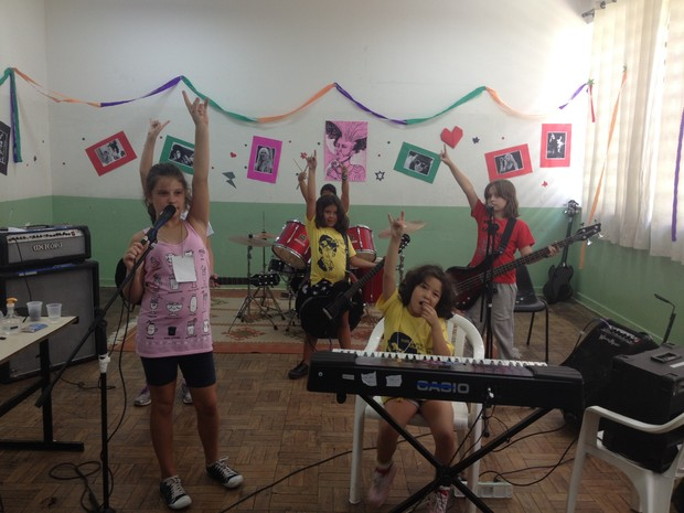 Girls Rock Camp Brasil, em Sorocaba (Foto: Babi Góes/G1)
