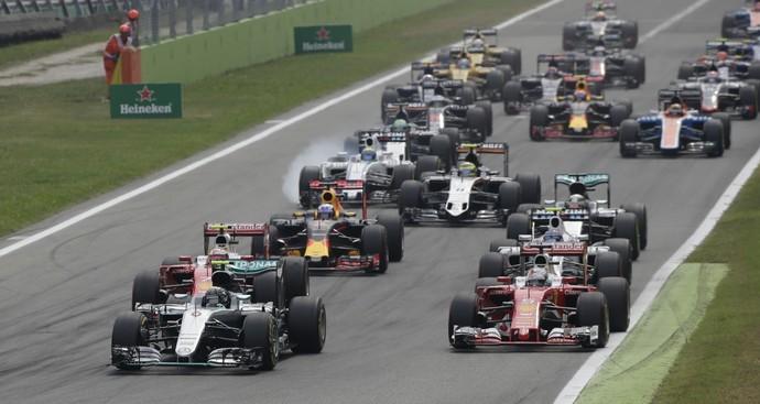 Largada do GP da Itália