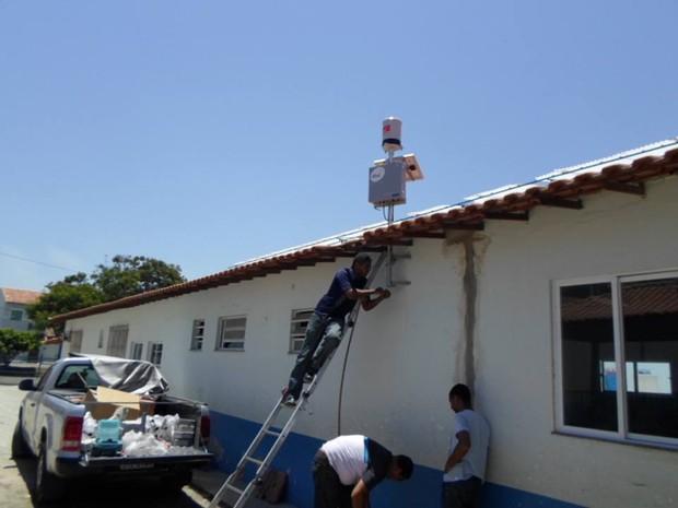 Araruama recebeu seus primeiros pluviômetros (Foto: Divulgação/Prefeitura de Araruama)