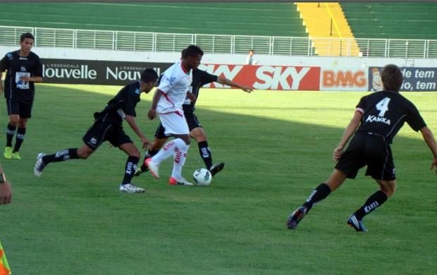 Boa Esporte venceu o jogo de ida po 3 a 0 em Varginha (Foto: Edimar Mariano / Assessoria de imprensa)