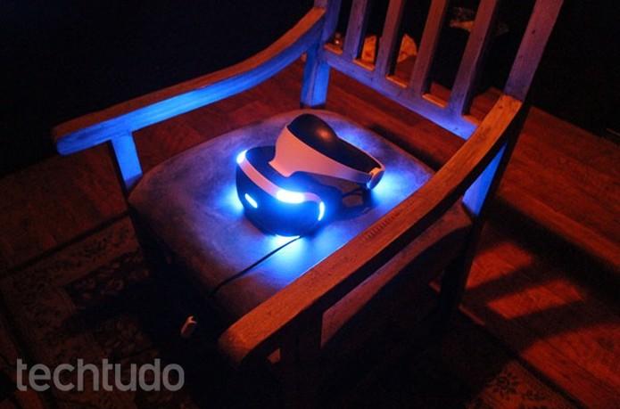 PlayStation VR impressiona com o realismo de Resident Evil 7 (Foto: Tais Carvalho/TechTudo)