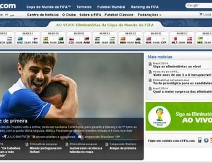 Cruzeiro é destaque na Fifa (Foto: Reprodução / Site Oficial da Fifa)