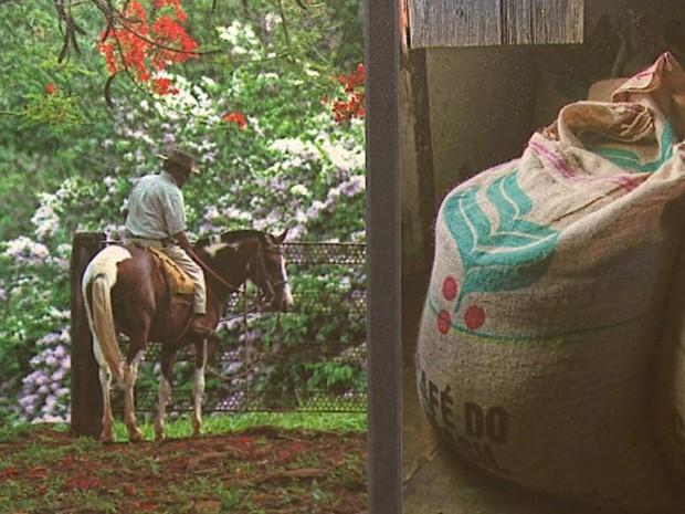 Casa de Cultura de Mococa, SP, tem exposição da vida rural (Foto: Reprodução/EPTV)