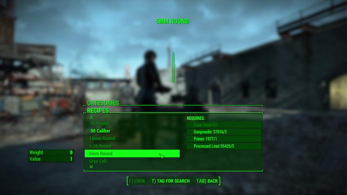 Fallout 4: mod possibilita criar as próprias munições (Foto: Reprodução/NexusMods)