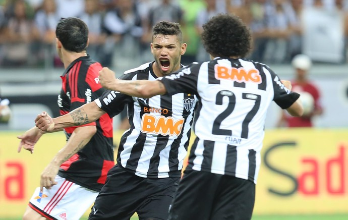 Carlos gol Atlético-MG x Flamengo (Foto: Cristiane Mattos / Futura Press)