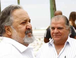 O presidente do Santos, Luis Alvaro de Oliveira Ribeiro - Laor - e o vice Odílio Rodrigues (Foto: Ricardo Saibun/Divulgação Santos FC)