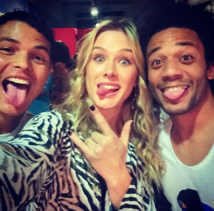 Thiago Silva, Marcelo e Fiorella no teatro (Foto: Reprodução/Instagram)