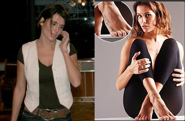 Deborah Secco e suas tataugens (Foto: Isaac Luz / EGO e reprodução)