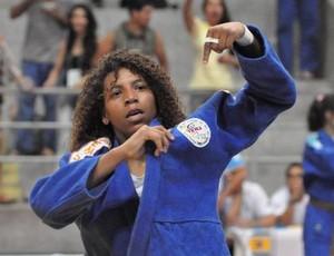 Judoca Rafaela Silva no Brasileiro de Judô, em Natal (Foto: Divulgação/CBJ)