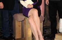 Look do dia: Cate Blanchett aposta em modelito geométrico em coletiva