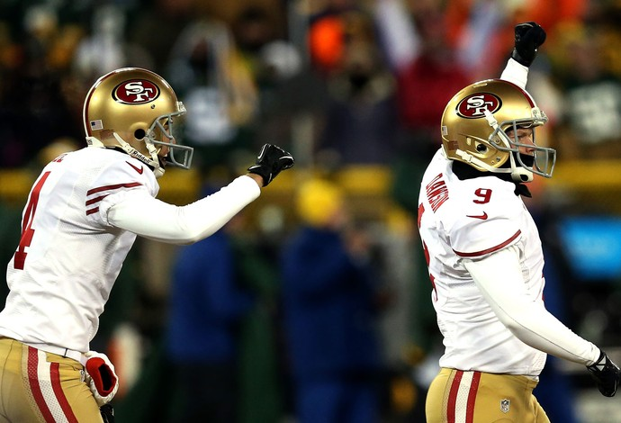 Phil Dawson e Andy Lee NFL San Francisco (Foto: Getty Images)