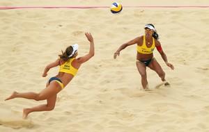 juliana e larissa volei de praia londres 2012 olimpiadas (Foto: Getty Images)