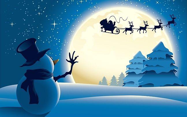Новогодние персонажи  елка дед мороз снегурочка олень