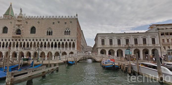 É possível passear pelas ruas alagadas de Veneza com o Google Street View (Foto: Reprodução/Barbara Mannara)