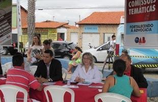 OAB-Piauí participa com a orientação jurídica oferecida por comissões (Foto: Katylenin França/TV Clube)