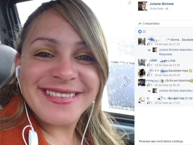 Corpo de Juliane Michele Calisto foi encontrado em sarjeta de Rio das Pedras (Foto: Reprodução/EPTV)