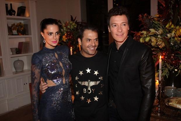 Vera Viel, Danilo Faro e Rodrigo Faro (Foto: Paulo Otero / Divulgação)