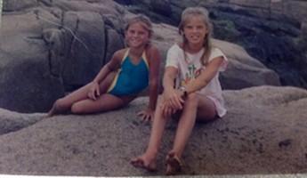 Michele e Letícia quando pequenas (Foto: Arquivo pessoal)