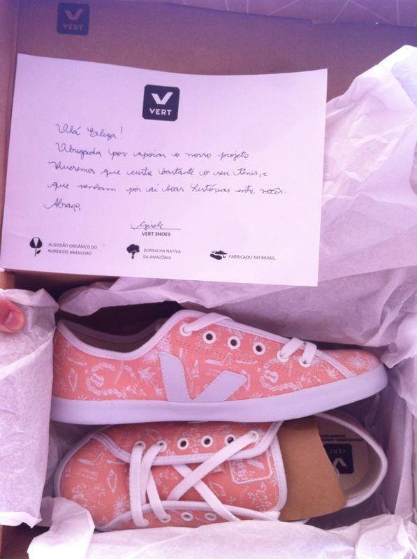 Empresa manda, junto com sapatos, uma carta personalizada  (Foto: Eliza Nayonara / Arquivo Pessoal)