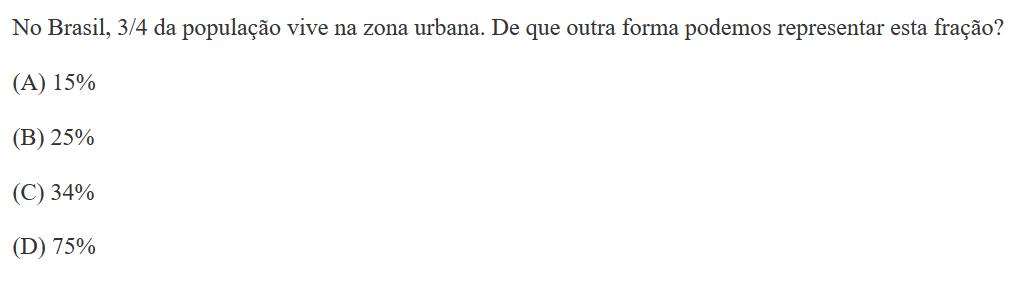 Questão da prova Brasil