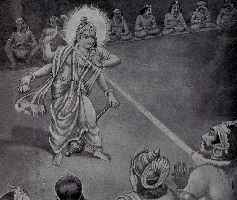 Vishnu decapta Rahu (Foto: Reprodução)