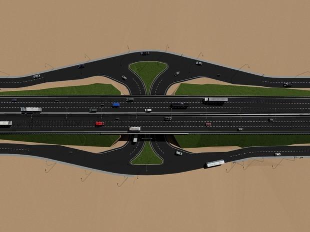 Ao todo, seis túneis e viadutos serão construídos entre Natal e Parnamirim (Foto: Divulgação/Dnit)