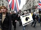 Manifestantes britânicos protestam por fim de medidas de austeridade