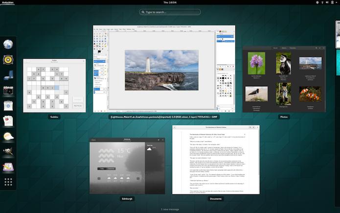 Gnome Shell é interface clássica com um toque moderno (Foto: divulgação/ Gnome Shell)