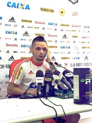 Pará Entrevista Coletiva  Flamengo (Foto: Cahê Mota)