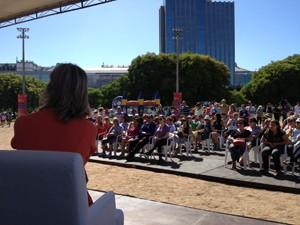 Um grande público foi conferir o talk show das apresentadoras do programa Vida e Saúde (Foto: Regina Albrecht/RBS TV)