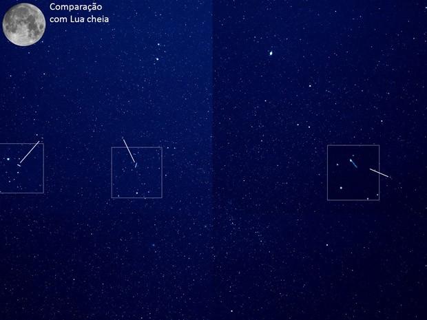 Imagem teste gerada pelo telescópio russo PanEos em Brazópolis; lentes permitem ver objetos no espaço de poucos centímetros (Foto: PanEos/LNA/Divulgação)