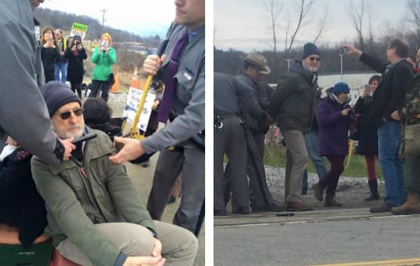 James Cromwell no instante em que foi levado pelos policiais (Foto: Reprodução)